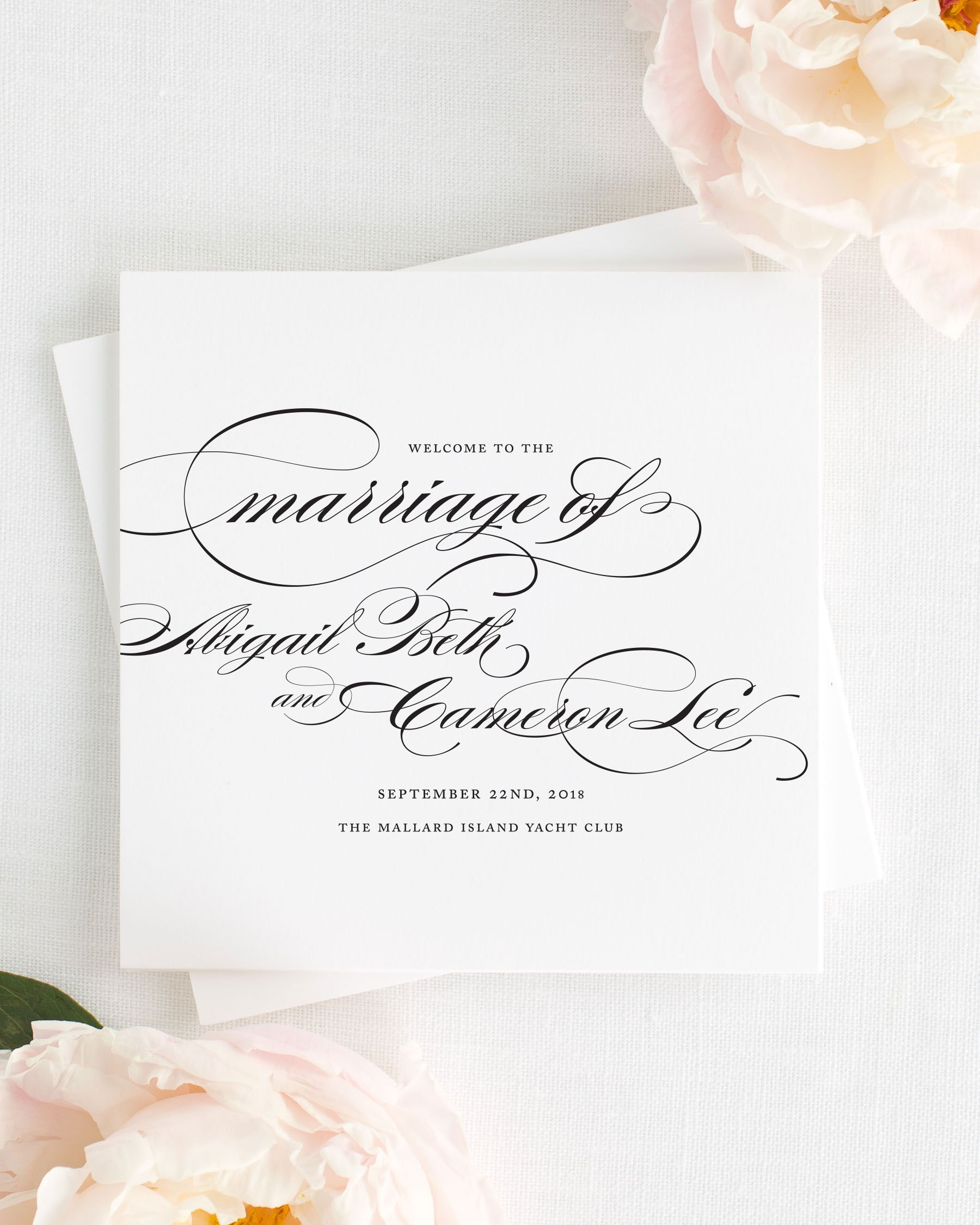 Three Fold Wedding Invitations Gallery