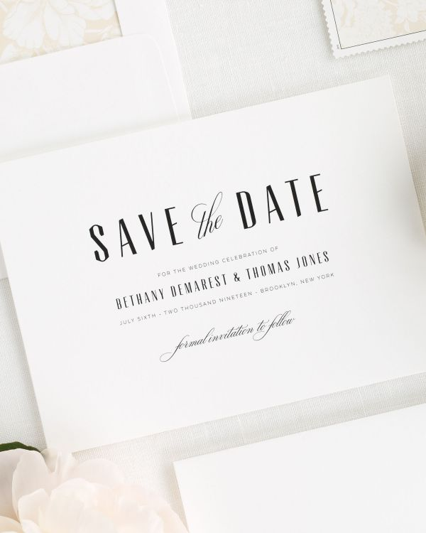 Mid Century Romance Save the Date Cards
