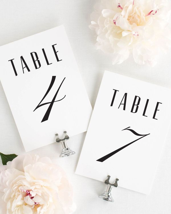 Mid Century Romance Table Numbers