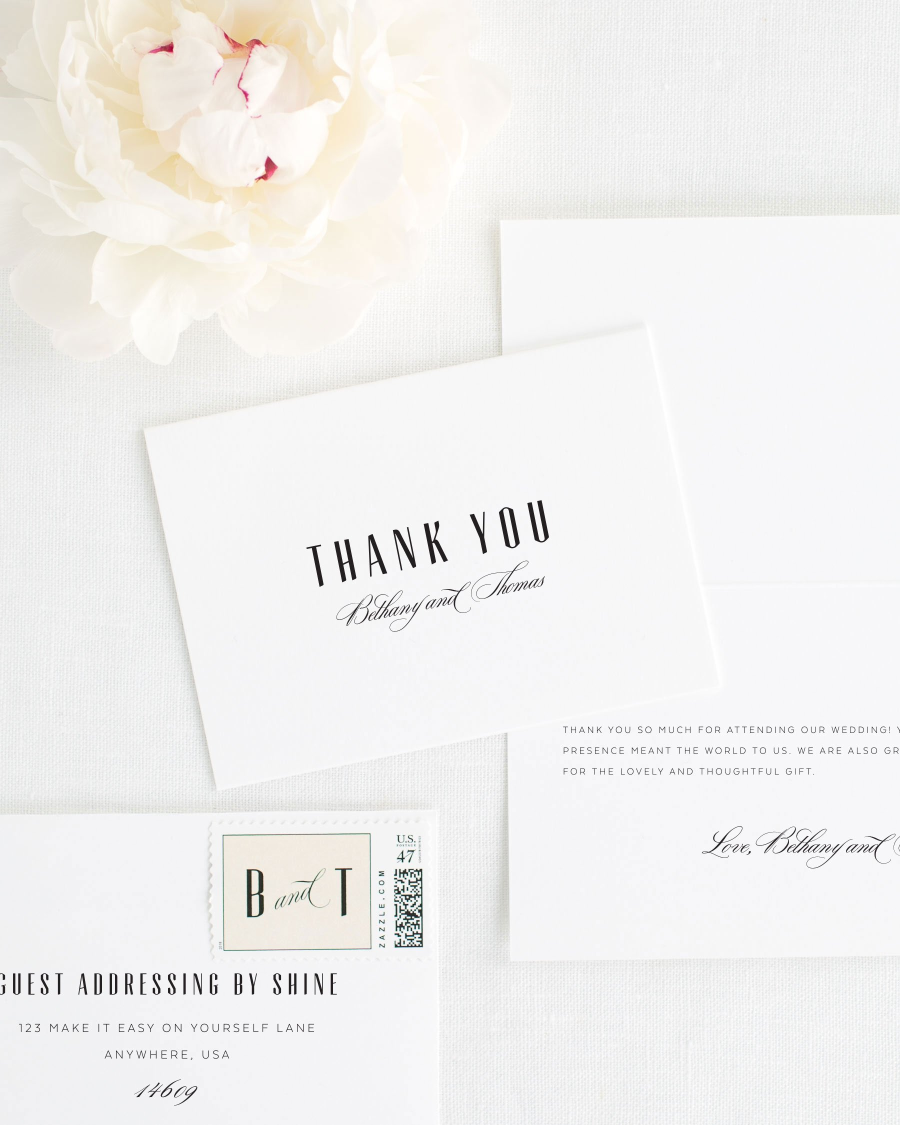Mid century romance thank you cards thank you cards by shine solutioingenieria Gallery
