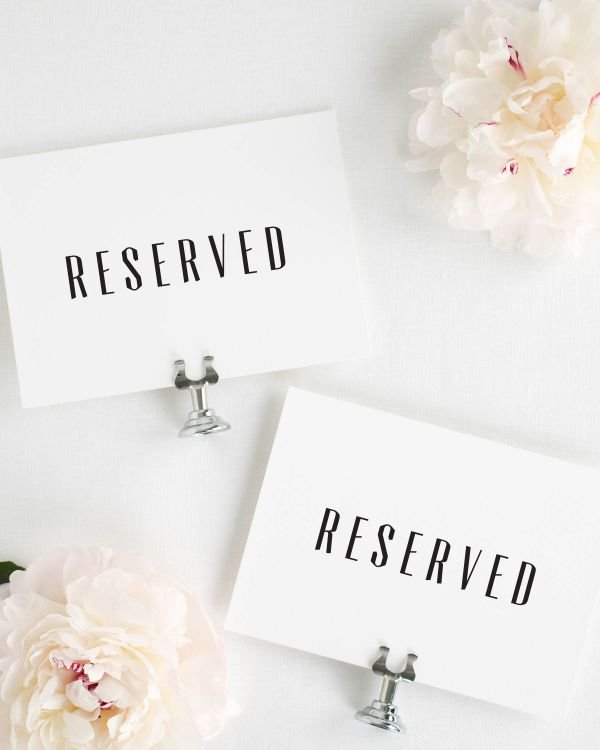 Mid Century Romance Reserved Signs