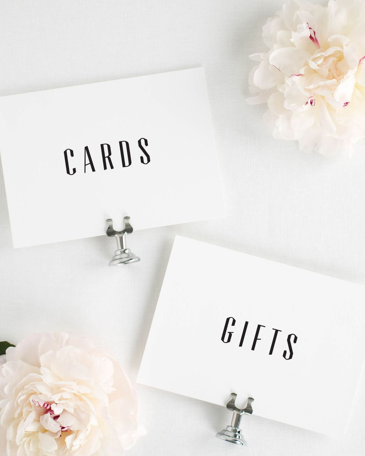 Gifts and Cards Signs for a Wedding