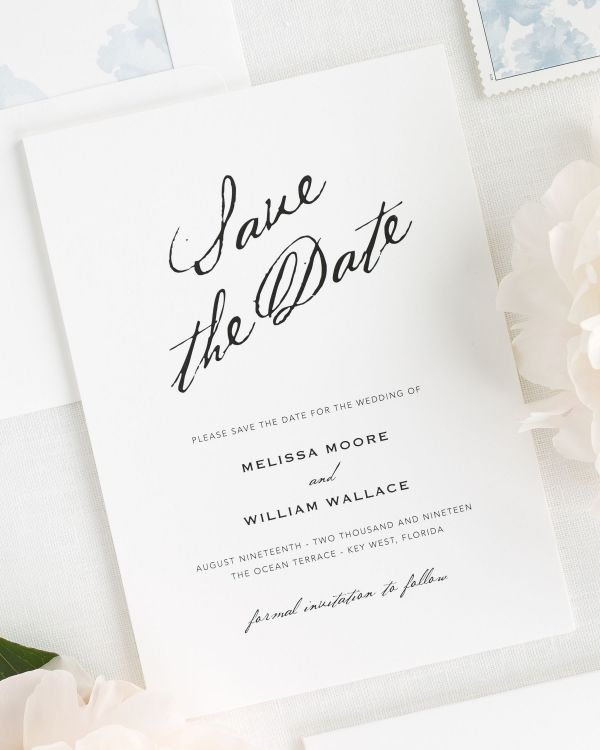 Modern Calligraphy Save the Date Cards