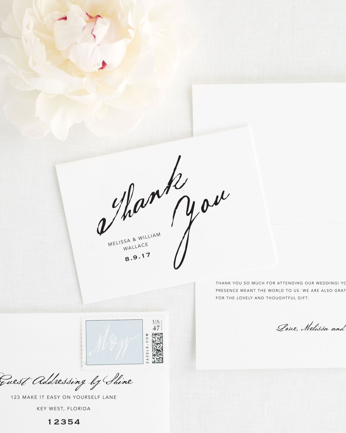 Modern calligraphy thank you cards thank you cards by shine calligraphy thank you cards for weddings solutioingenieria Gallery