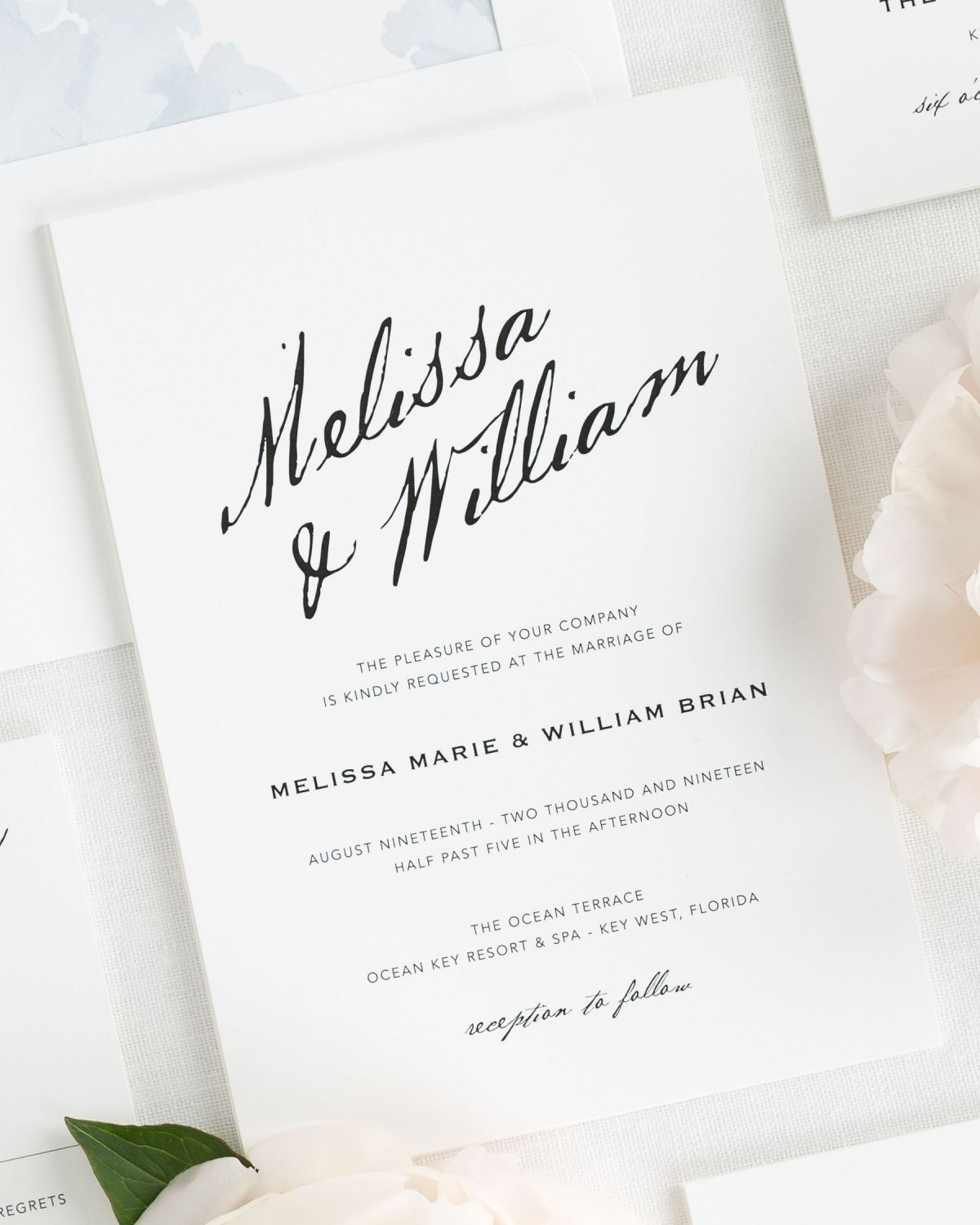 Modern Calligraphy Wedding Invitations Wedding