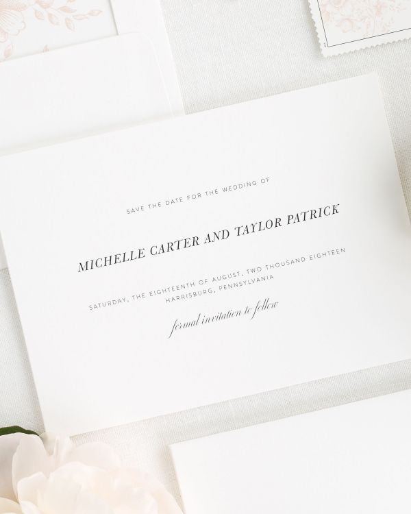 Modern Chic Save the Date Cards