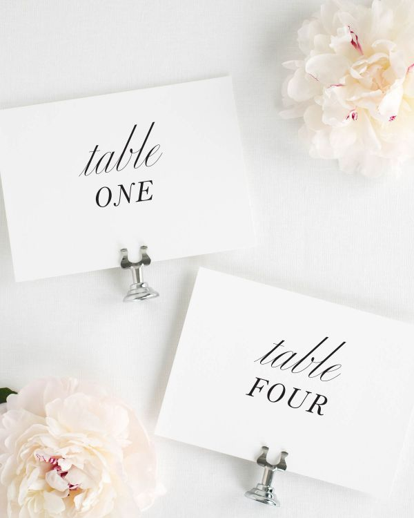Modern Chic Table Numbers