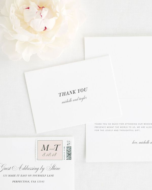 Modern Chic Thank You Cards