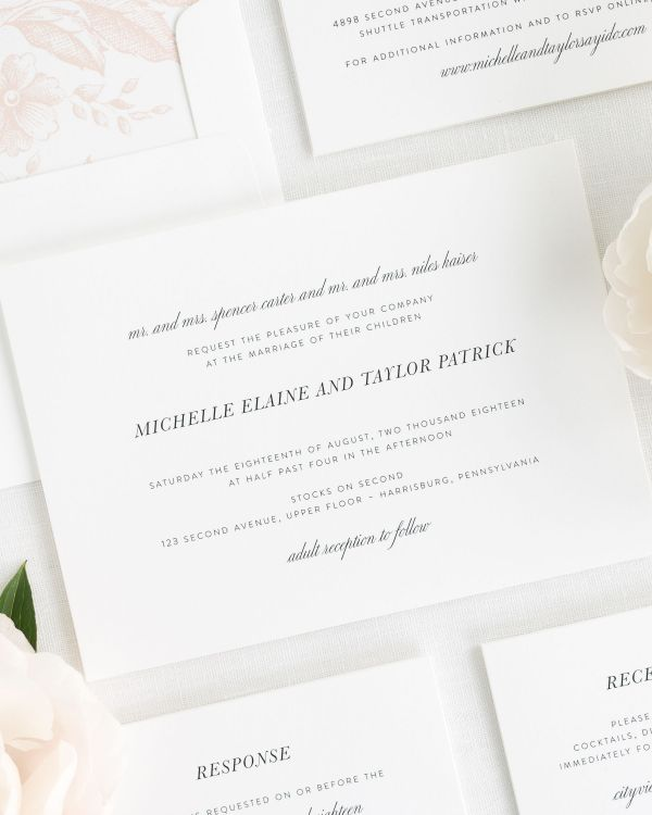 Modern Chic Wedding Invitations