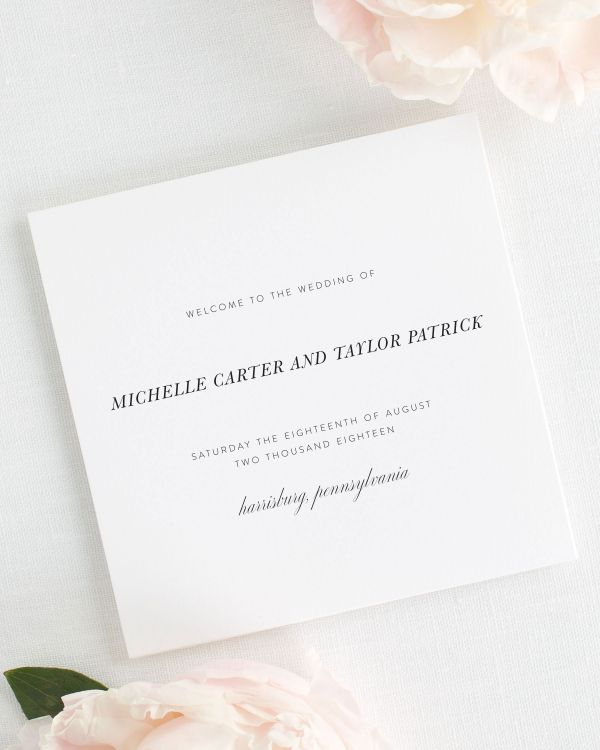Modern Chic Wedding Programs