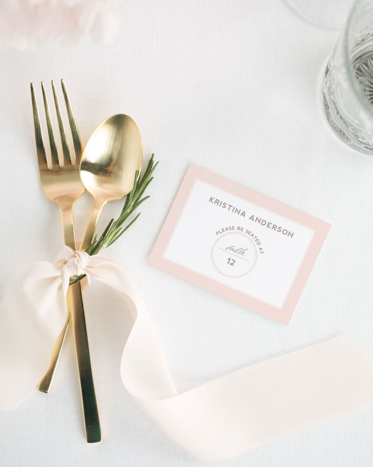 Modern Place Cards for Weddings
