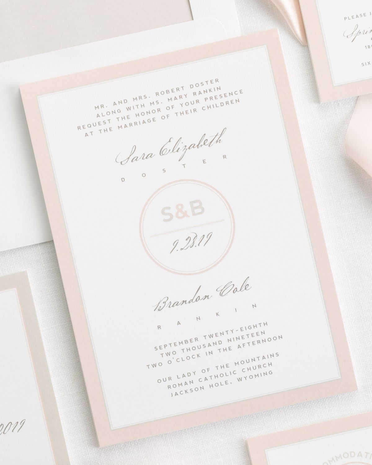 Logo Wedding Invitations