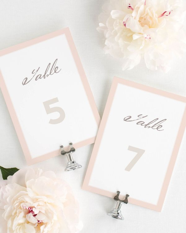 Modern Circle Logo Table Numbers
