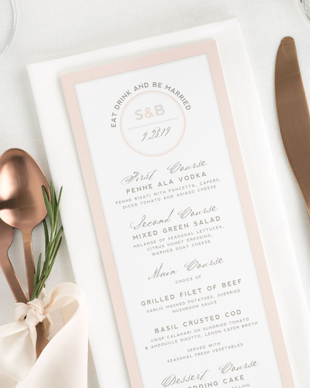 Modern Logo Circle Wedding Menus Wedding Menus By Shine