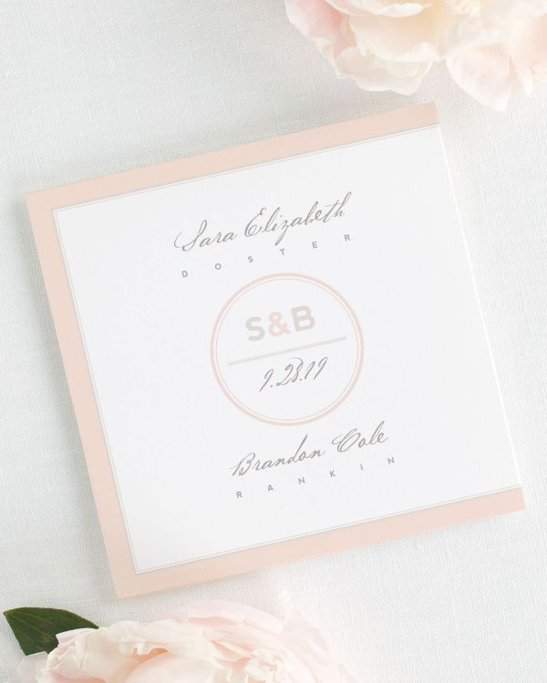 Modern Circle Logo Wedding Programs