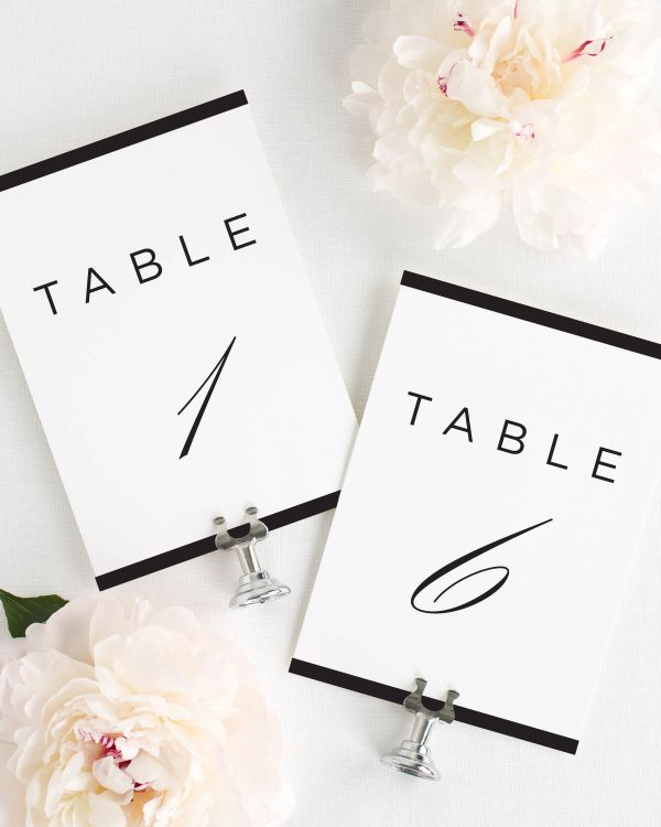 Modern Glamour Table Numbers