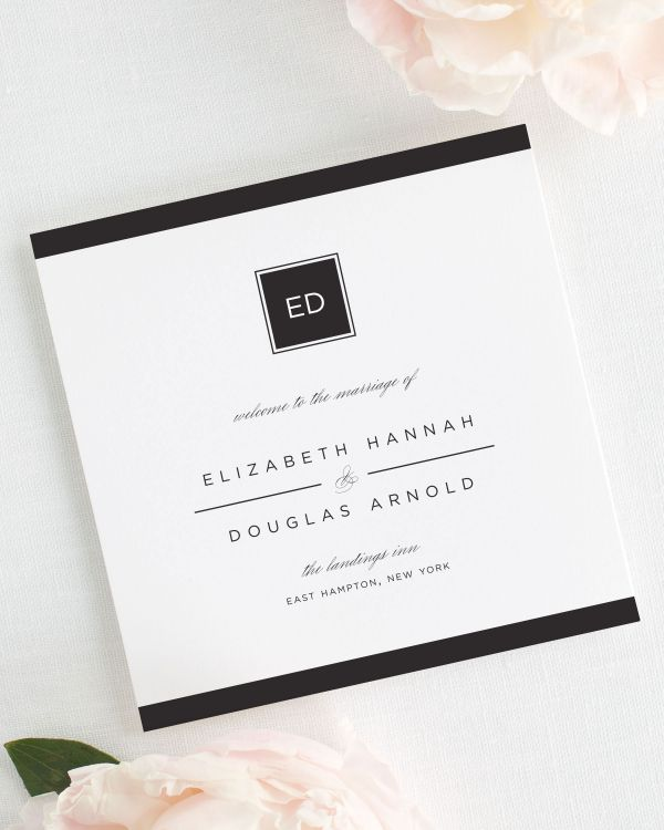 Modern Glamour Wedding Programs