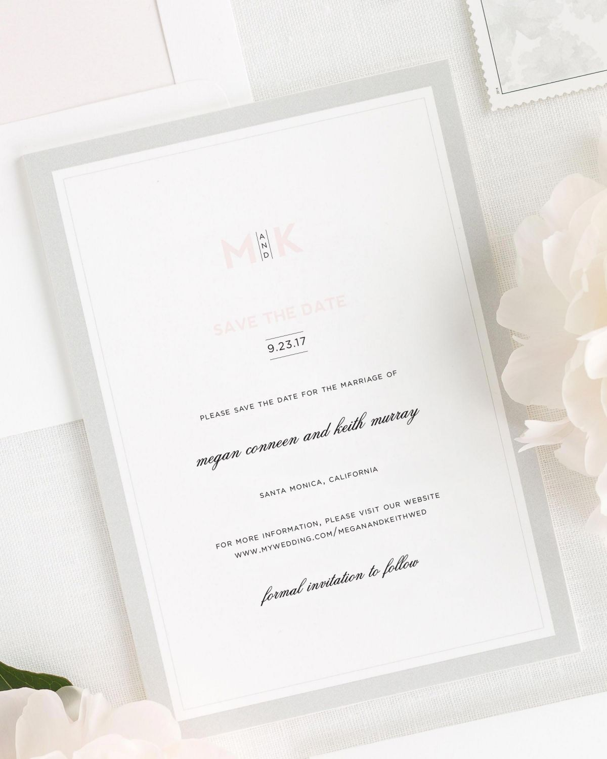 Modern Initials Save the Date Cards - Save the Date Cards by Shine