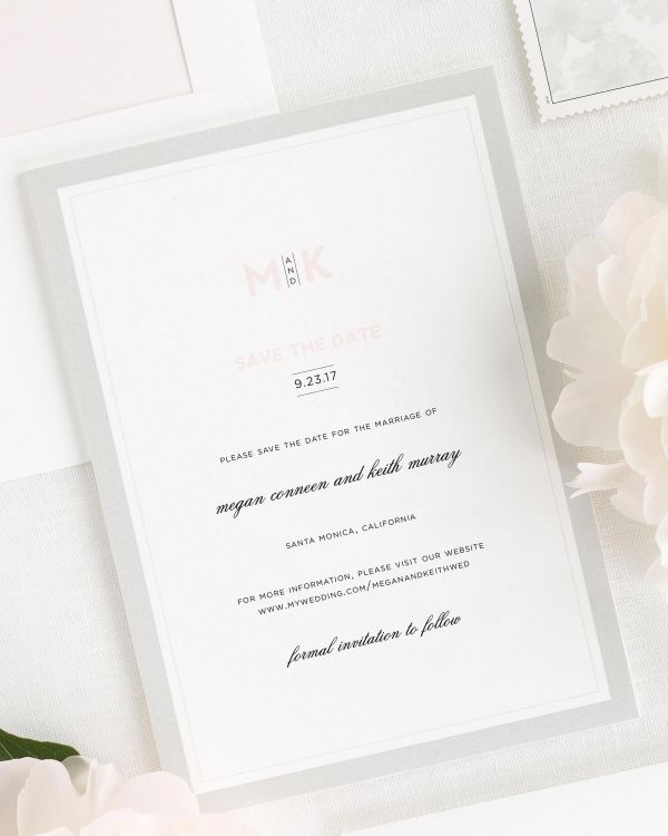 Modern Initials Save the Date Cards