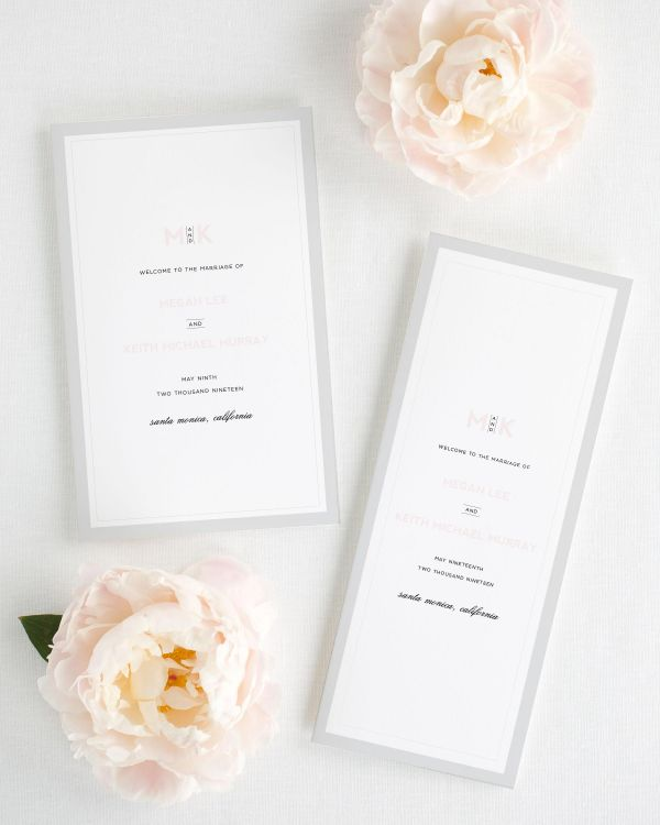 Modern Initials Booklet Wedding Programs