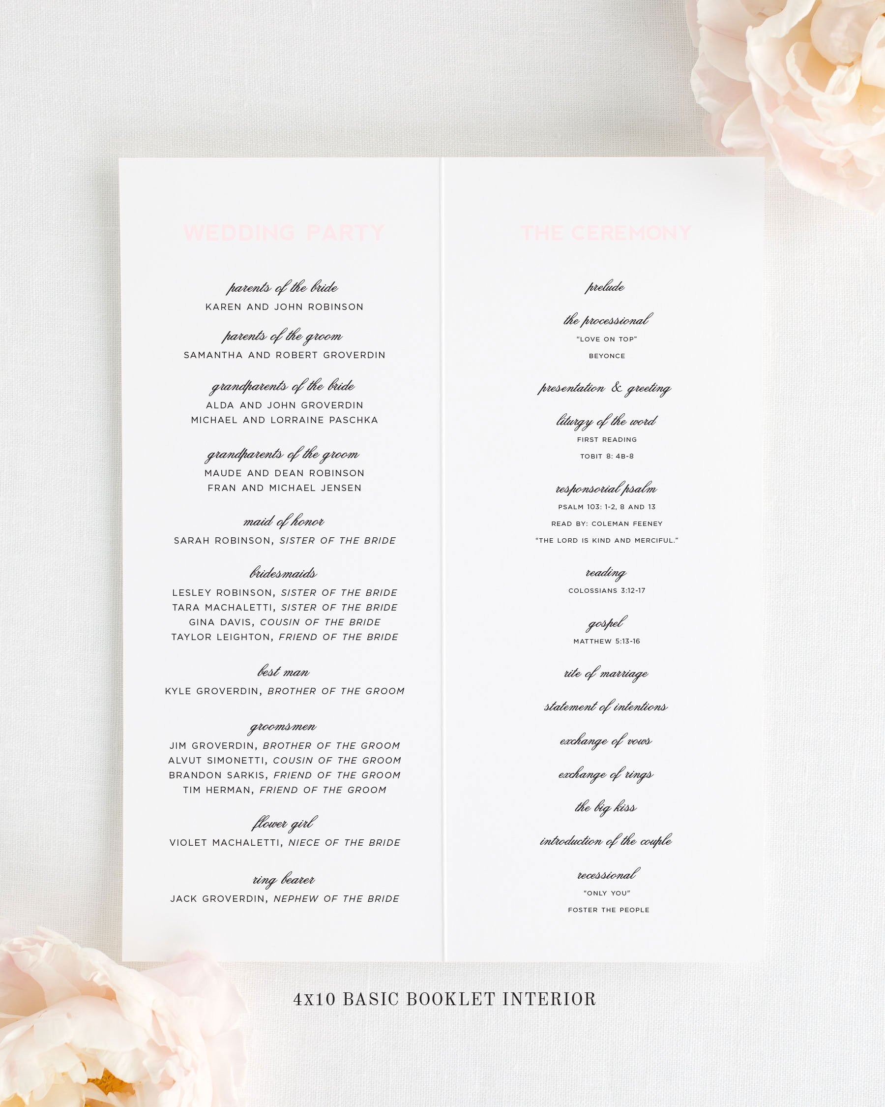 Modern Initials Booklet Wedding Programs - Booklet Wedding Programs ...