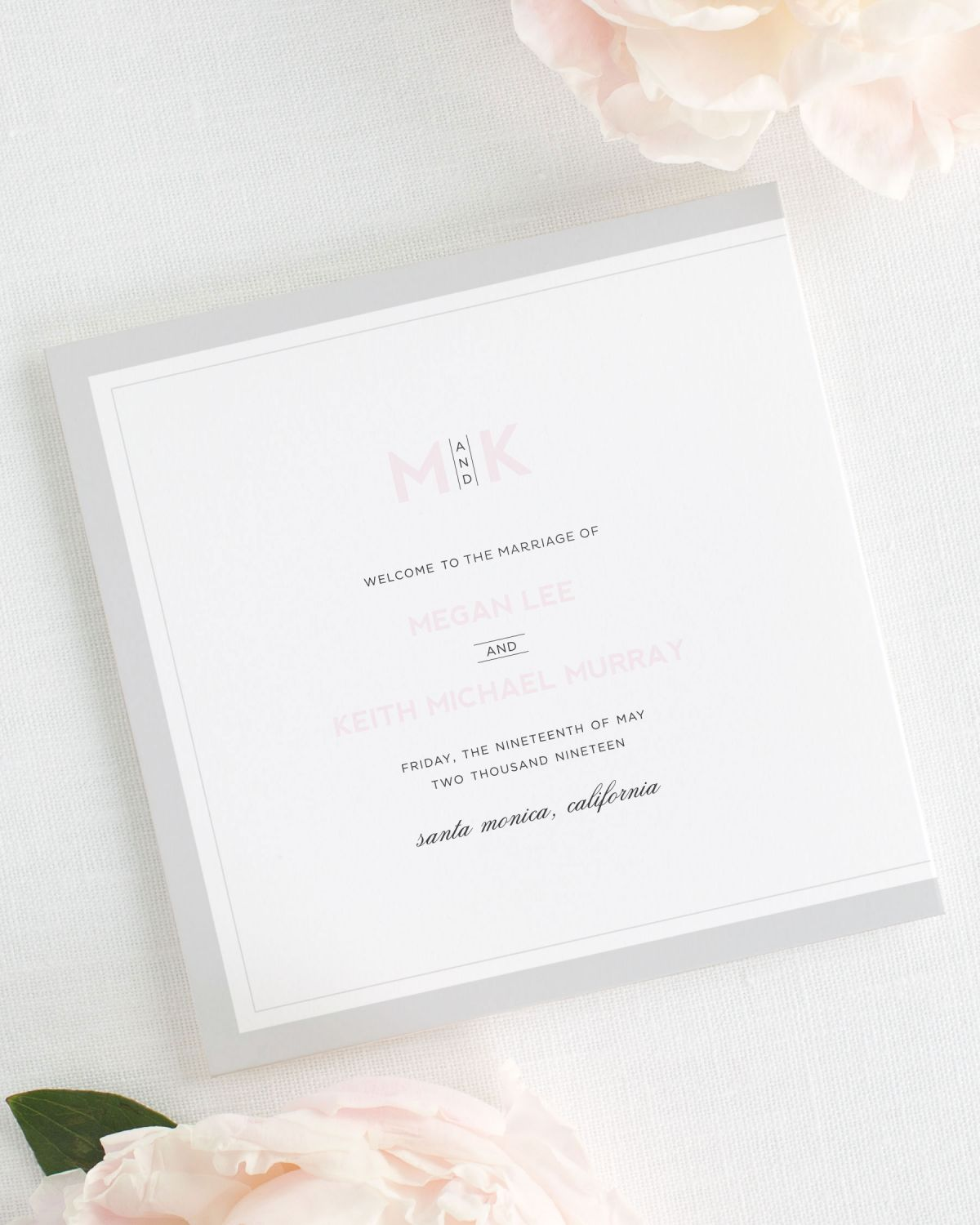 Modern Initials Wedding Programs - Wedding Programs by Shine