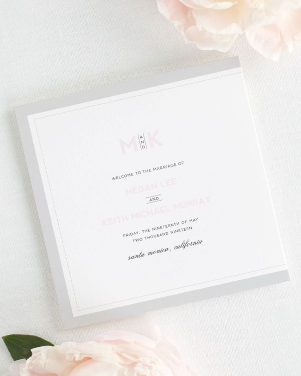 Modern Initials Wedding Programs