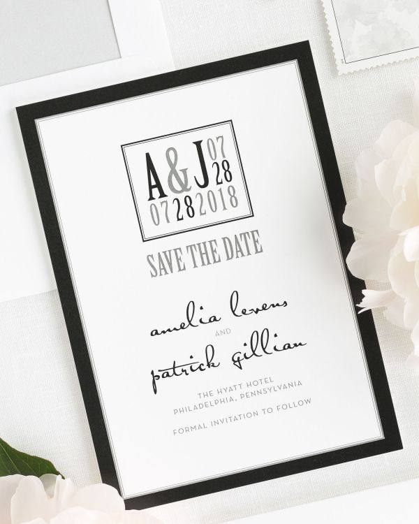 Modern Logo Save the Date Cards