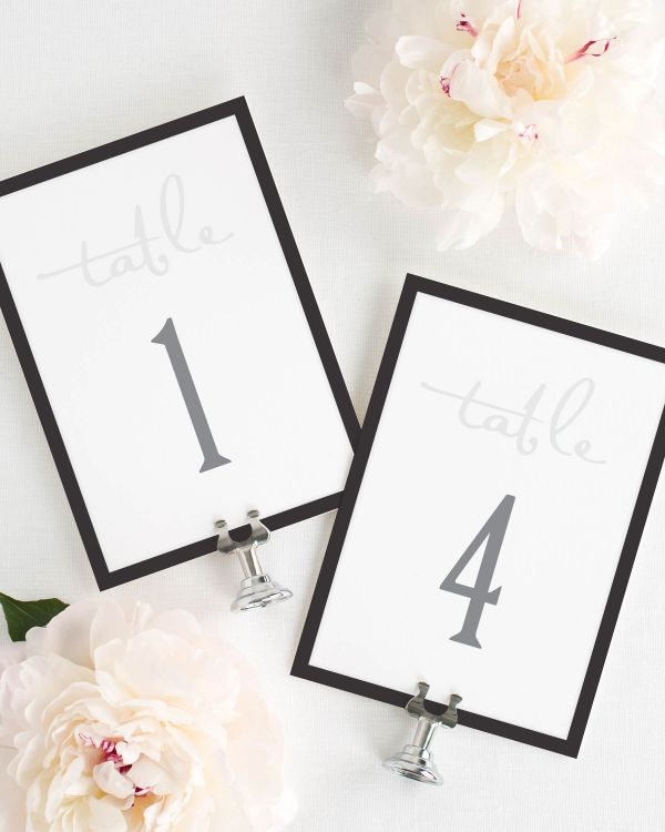 Modern Logo Table Numbers