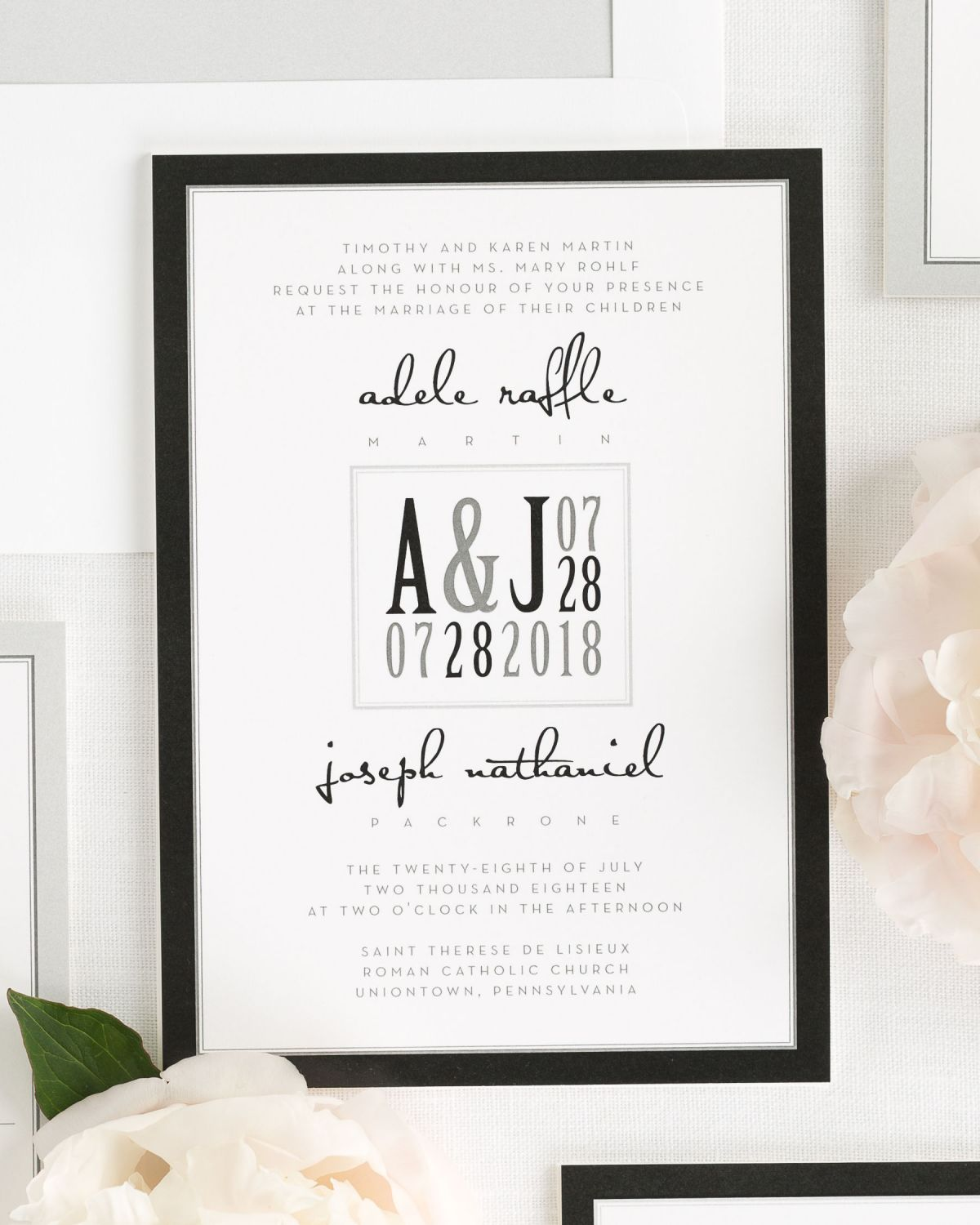 Bordered Wedding Invitations