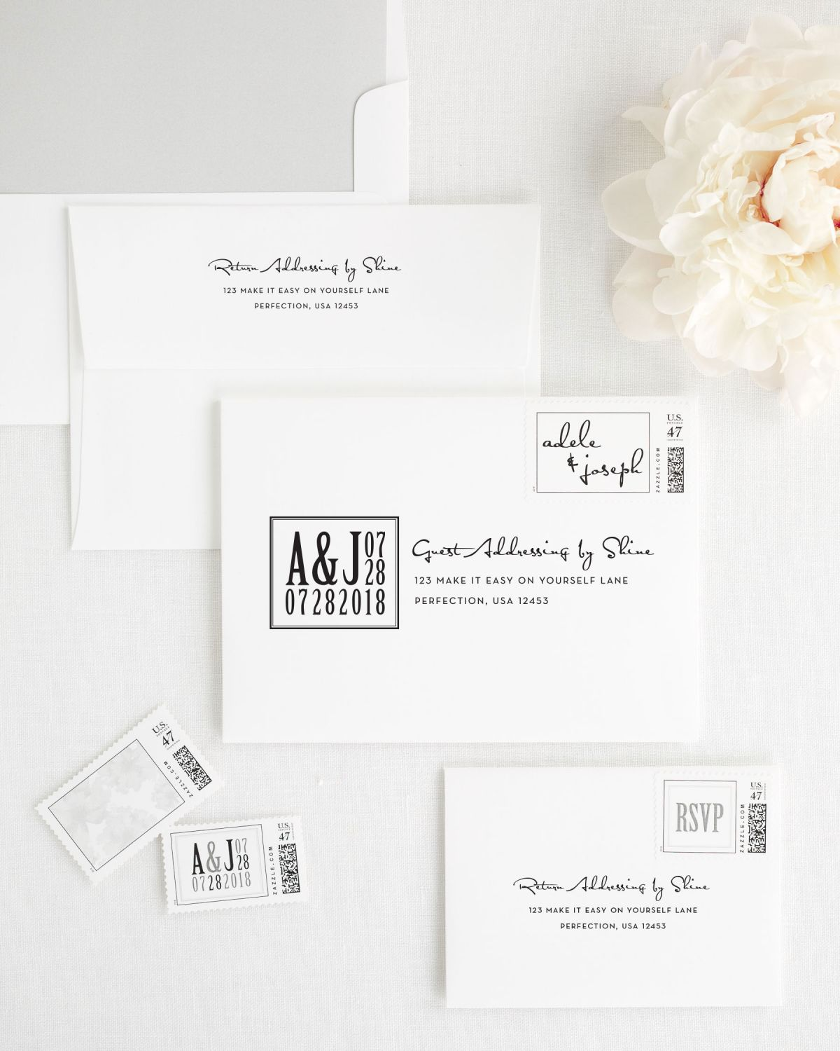 Modern Logo Wedding Invitations - Wedding Invitations by Shine