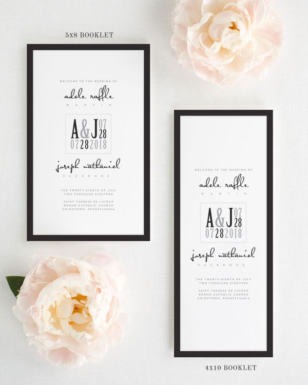 Modern Logo Booklet Wedding Programs
