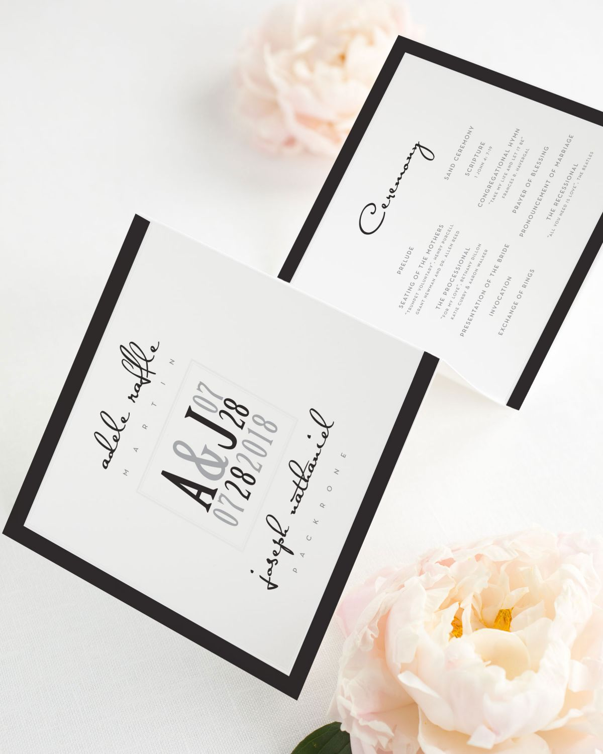 Modern Logo Wedding Ceremony Programs