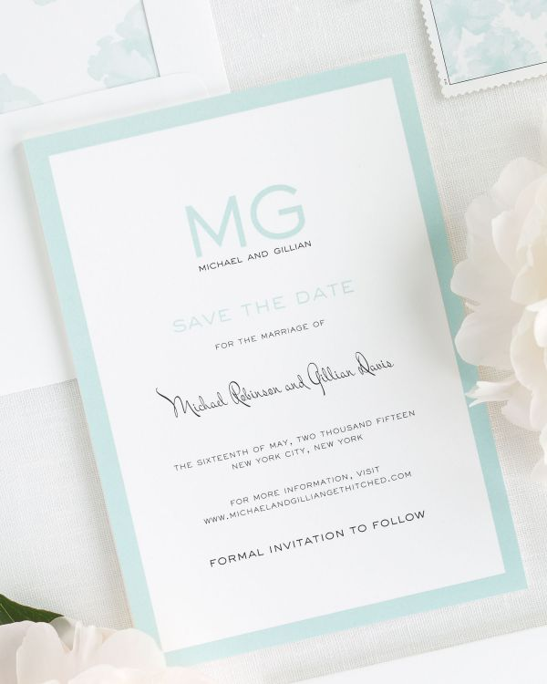 Modern Luxe Save the Date Cards