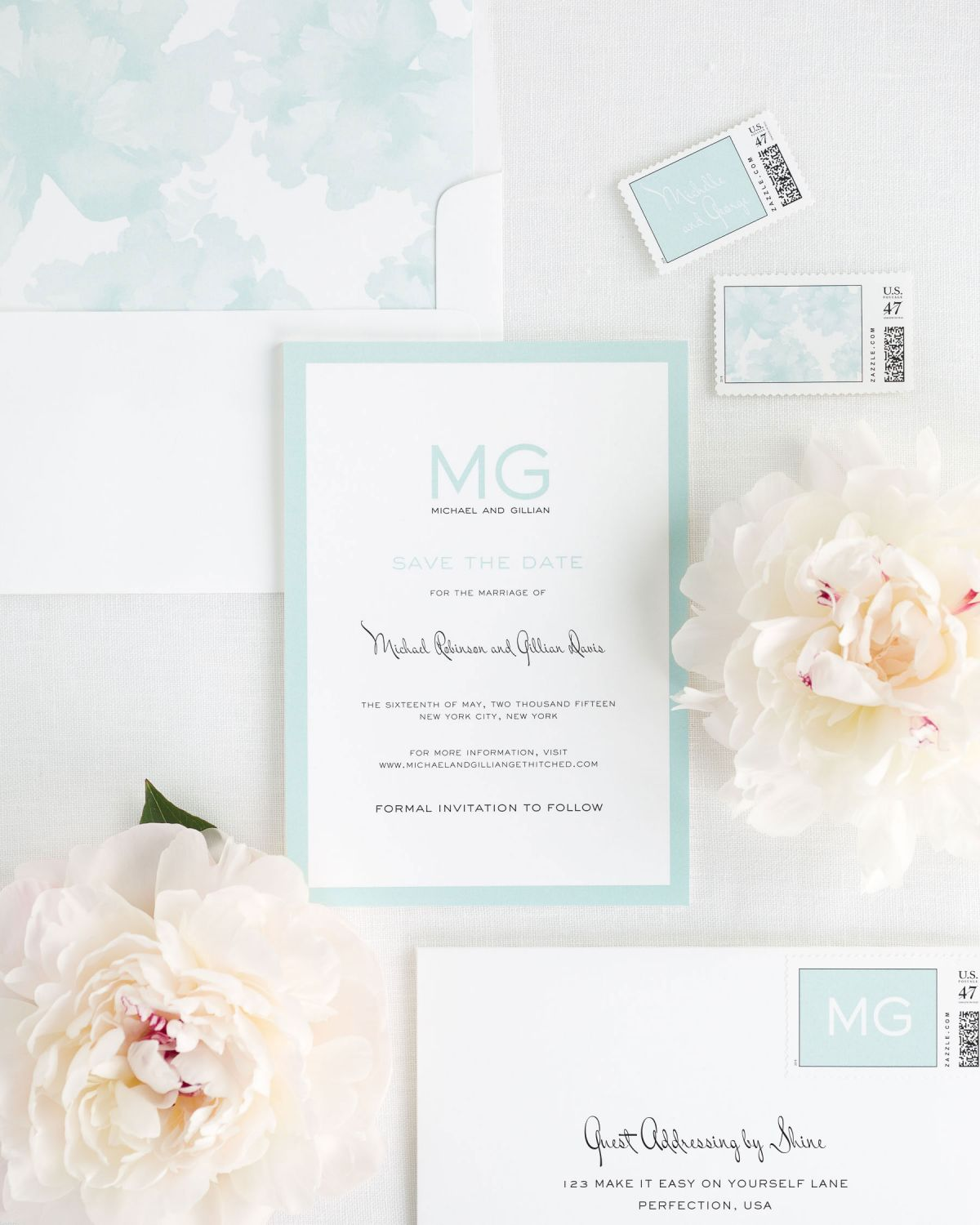 Save the Date with Mont Envelope Liner and