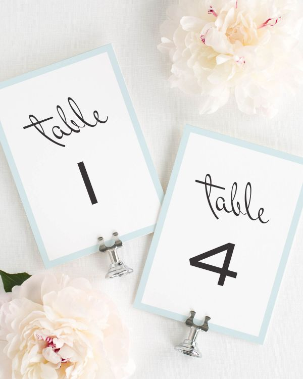 Modern Luxe Table Numbers