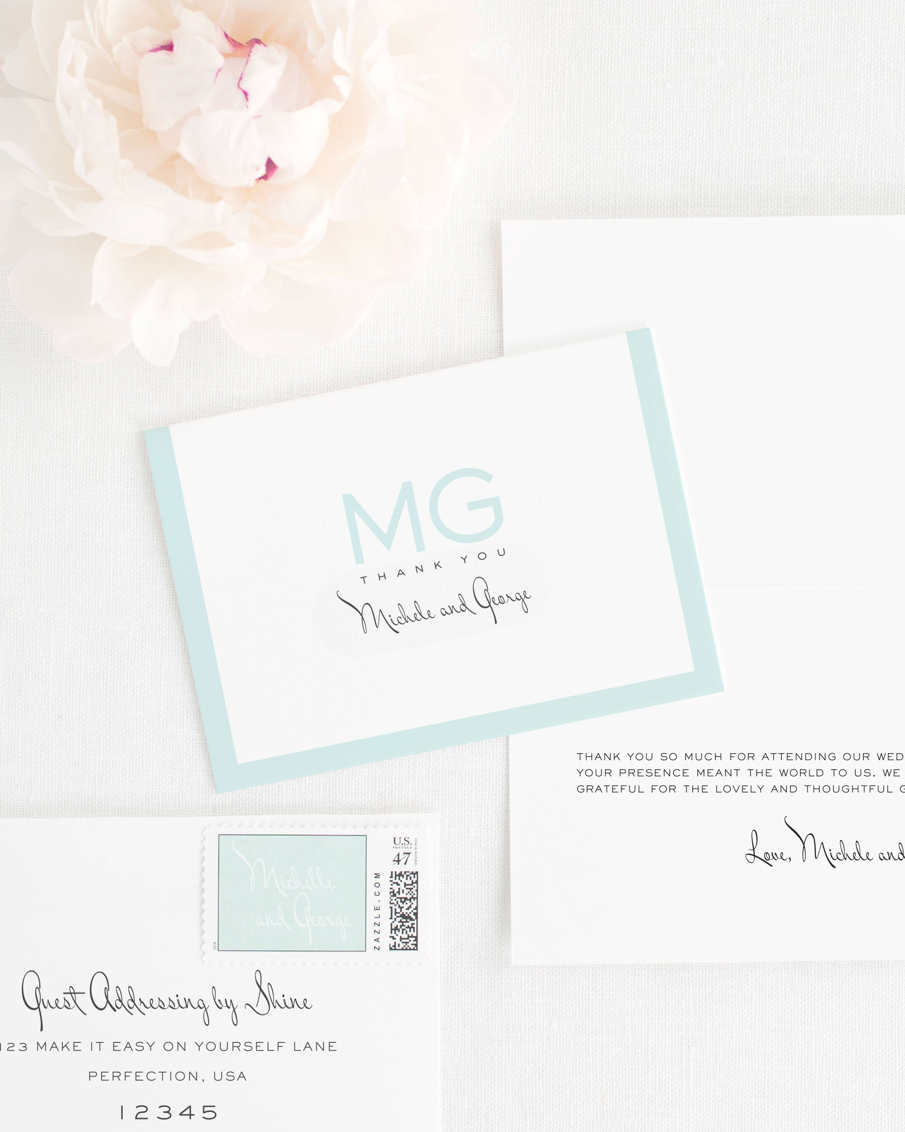 Modern Luxe Thank You Cards