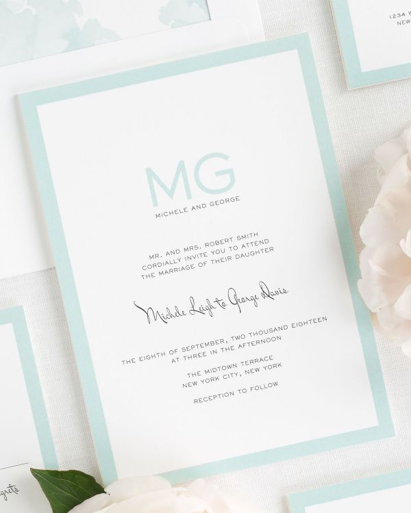 Modern Luxe Wedding Invitations