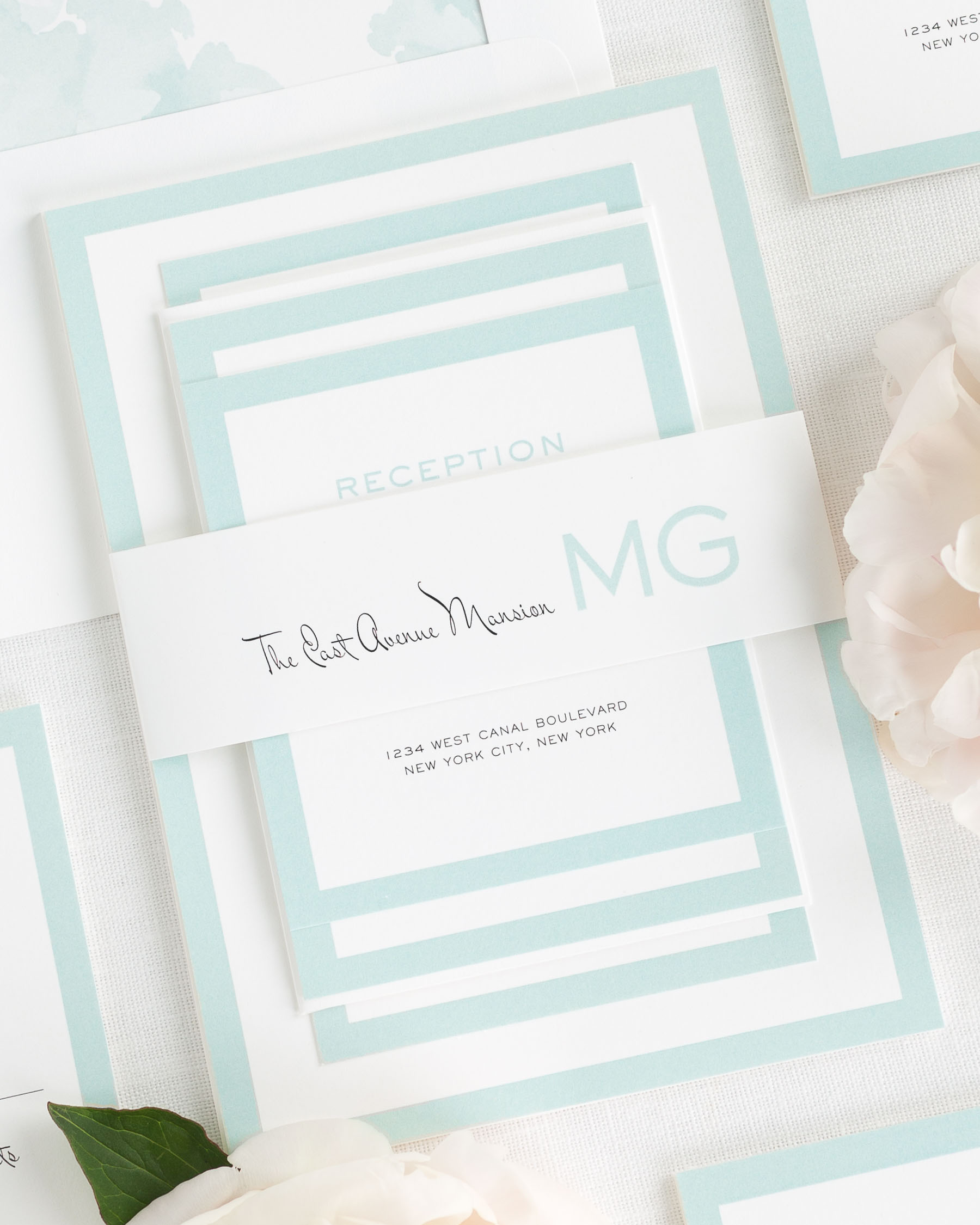 Modern Luxe Wedding Invitations Wedding Invitations by Shine