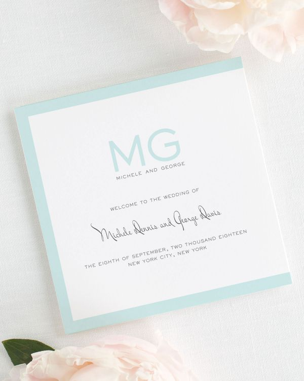 Modern Luxe Wedding Programs