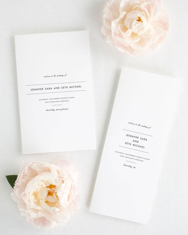 Modern Romance Booklet Wedding Programs