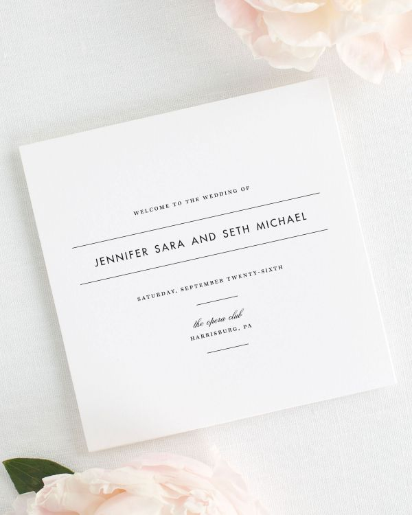 Modern Romance Wedding Programs