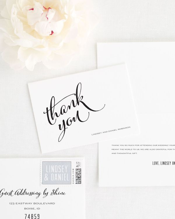 Modern Script Thank You Cards