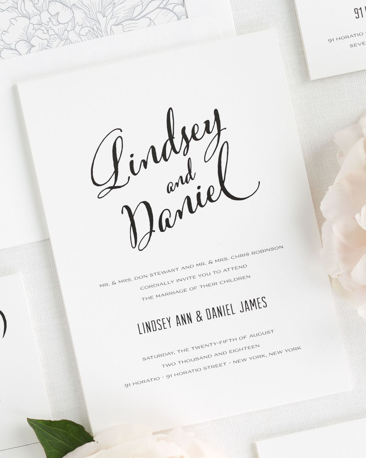 Modern Script Wedding Invitations Wedding Invitations by Shine