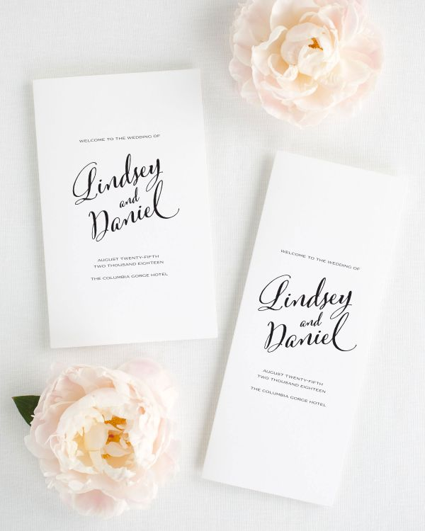 Modern Script Booklet Wedding Programs