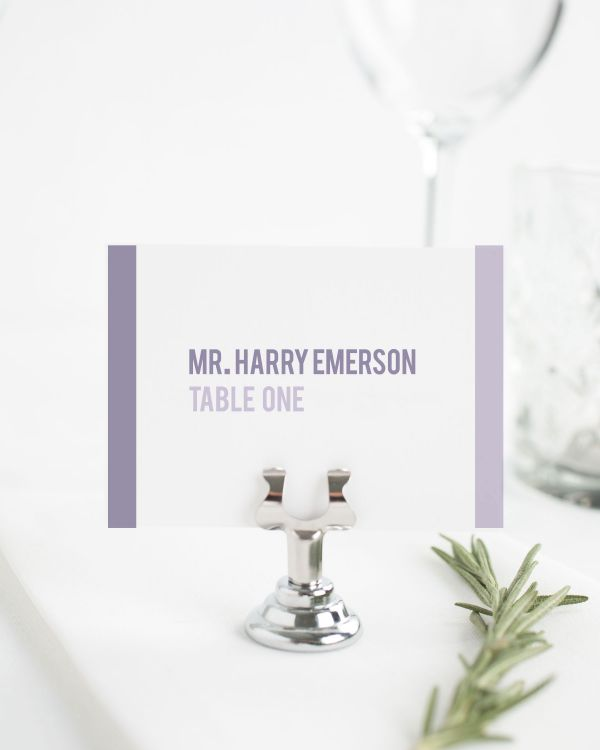 Modern Stack Place Cards