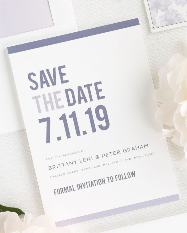 Modern Stack Save the Date Cards