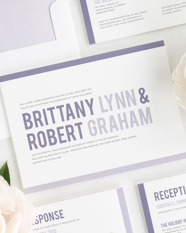 Modern Stack Wedding Invitations