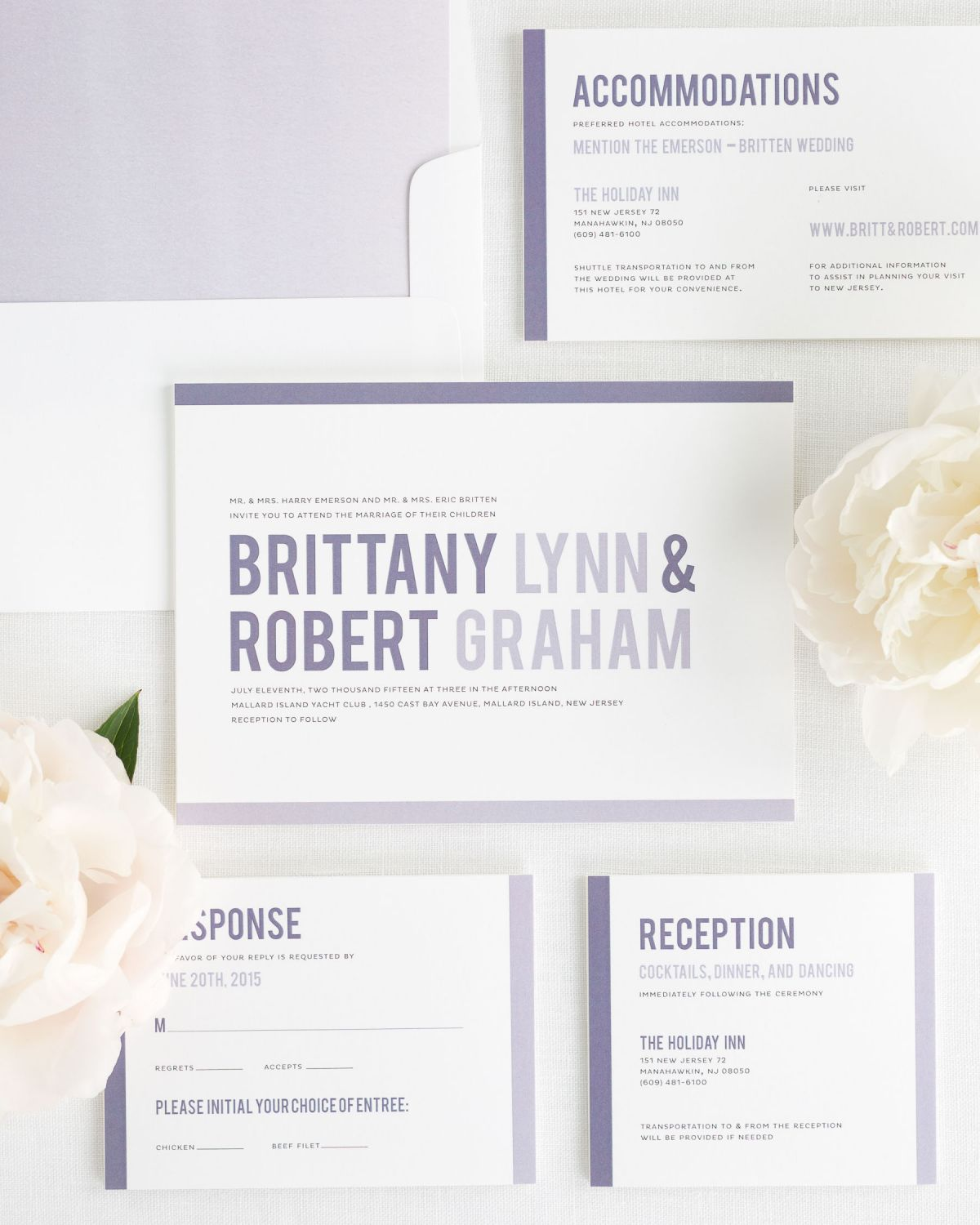 Modern Stack Wedding Invitations - Wedding Invitations by Shine