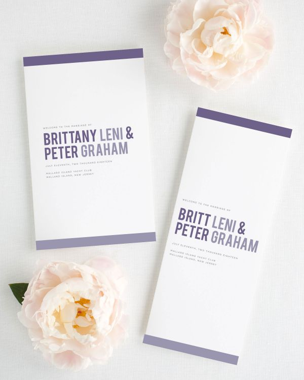 Modern Stack Booklet Wedding Programs